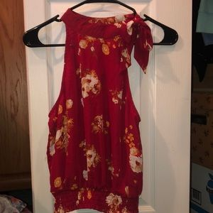 Gorgeous Red Floral Top!!